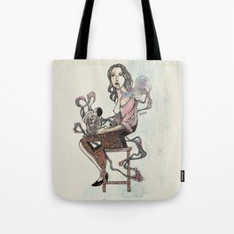 Zebra Girl Tote Bag