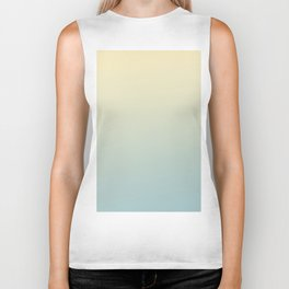 FADING AWAY - Minimal Plain Soft Mood Color Blend Prints Biker Tank