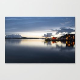 Twylight over Oban Harbour Canvas Print