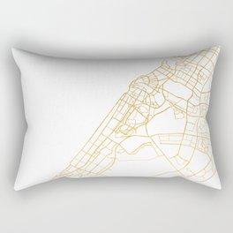 DUBAI UNITED ARAB EMIRATES CITY STREET MAP ART Rectangular Pillow