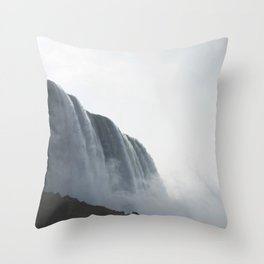 From below where all the water falls, Niagara 01 Throw Pillow
