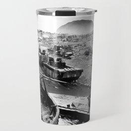 Iwo Jima Beach Painting Travel Mug
