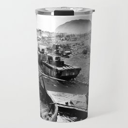 Iwo Jima Beach Painting Travel Mug