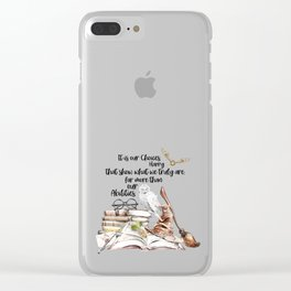Our Choices Clear iPhone Case