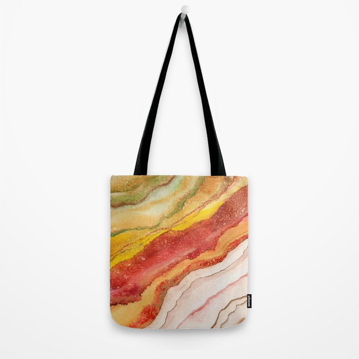 AGATE Inspired Watercolor Abstract 03 Tote Bag