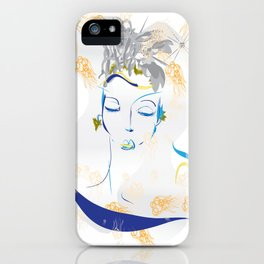 sleeping angel iPhone Case
