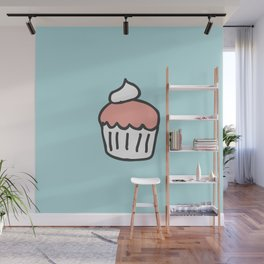 Strawberry Cupcake Wall Mural