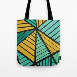 Triangles Taro Patch Design Tote Bag