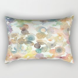 Watercolour spirographs Rectangular Pillow