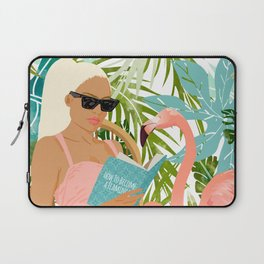How To Become a Flamingo #illustration Laptop Sleeve