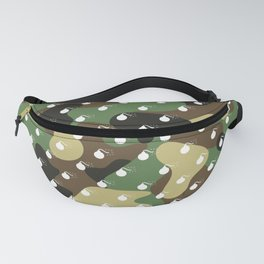 CAMO & WHITE BOMB DIGGITYS ALL OVER LARGE Fanny Pack
