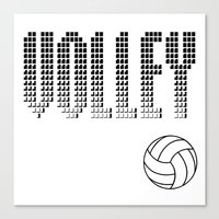 volleyball Canvas Prints featuring Volleyball by raineon