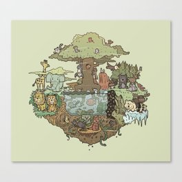 Creatures Of The Forest Canvas Print