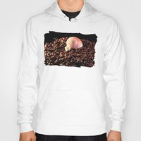 cafe Hoodies featuring BROWN CAFE by Karl-Heinz Lüpke