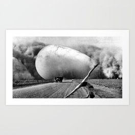 Dust Bowl Brancusi Art Print