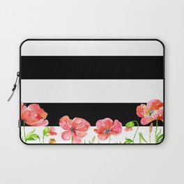 Poppies and Stripes Laptop Sleeve