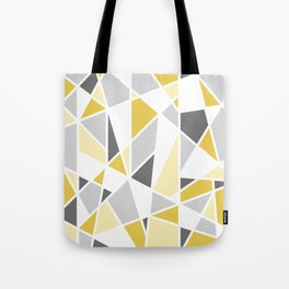 Geometric Pattern in yellow and gray Tote Bag