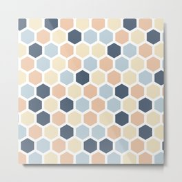 Honeycomb Metal Print