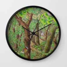 A Day of Forest (2). (sunshine forest) Wall Clock