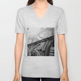 Grey Graffiti Unisex V-Neck