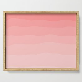 Grapefruit Blush Gradient Ombre Serving Tray