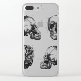Vintage Medical Engravings of a Human Skull Clear iPhone Case