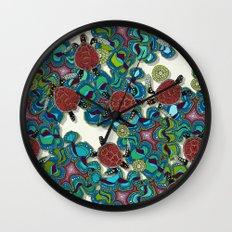 turtle reef Wall Clock