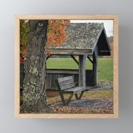 Autumn Covered Bridge 2 Framed Mini Art Print