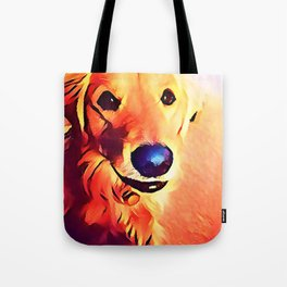 The GOLDEN from our POP YOUR POOCH line Tote Bag