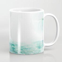 Digital Painting of Misty Niagara Falls on a Slightly Cloudy Day Coffee Mug