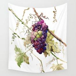 Grapes, California Vineyard Wine Lover design Wall Tapestry