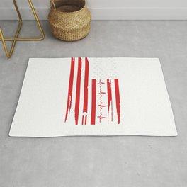 Er Nurse American Flag V Rug