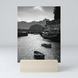 Let's float in a boat holiday  San Sebastian Spain Donostia   Minimal fine art travel photography   Mini Art Print