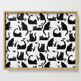 Bad Cats Knocking Stuff Over Serving Tray