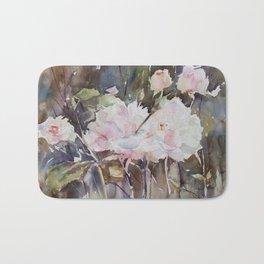 Rose Garden with Sepia Bath Mat