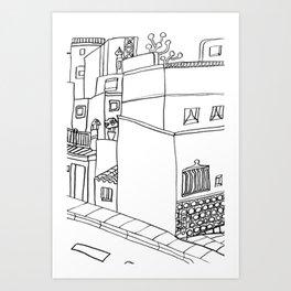 Street Of Malaga - Drawing Art Print