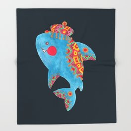 The Strong Shark Throw Blanket