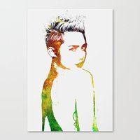 miley cyrus Canvas Prints featuring Miley Cyrus by Greg21