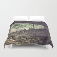 graffiti Duvet Covers featuring graffiti by courtneeeee