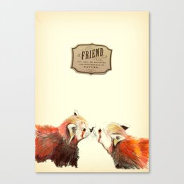 Red Panda Friends Canvas Print