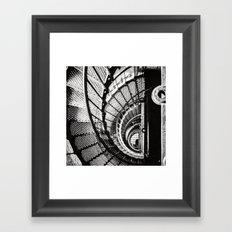 Spiral staircase black and white Framed Art Print