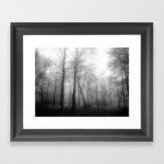 Black and white forest... Framed Art Print