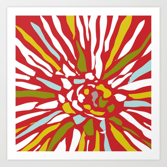 Pia - Abstract floral Art Print