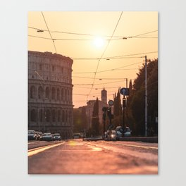 Golden Colosseo Canvas Print
