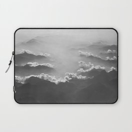 Clouds (Black and White) Laptop Sleeve
