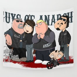 Guys of Anarchy Wall Tapestry