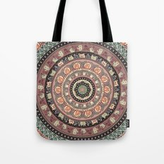 Cat Yoga Medallion Tote Bag