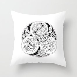 BBC Merlin: In Spite of Everything, the Stars (Dragon Triskelion tattoo) Throw Pillow