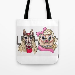 Drag Queen Cats; Katya & Trixie Tote Bag