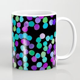Watercolour Purple Blue Dots Coffee Mug